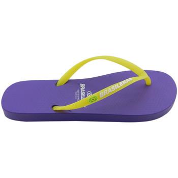 Zapatos Mujer Chanclas Brasileras Chanclas de playas ®, Classic Combi Neon W Purple/Yellow