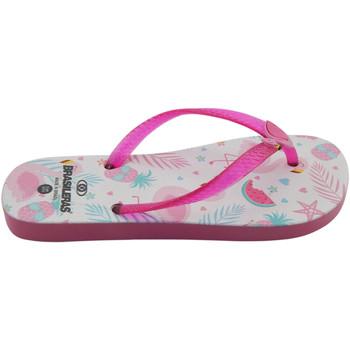 Zapatos Niña Chanclas Brasileras Chanclas de playas ,Printed 21  Flamy Fuchsia