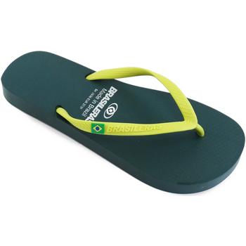 Zapatos Mujer Chanclas Brasileras Chanclas de playa ®, Classic Combi W SS19 Green/Yellow