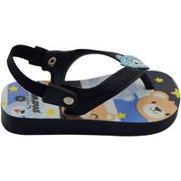 Zapatos Niño Chanclas Brasileras Chanclas de playas ®,Printed 21  Baby Teddy Black