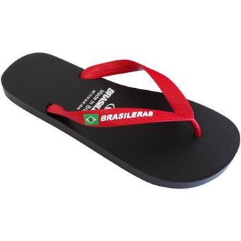 Zapatos Hombre Chanclas Brasileras Chanclas de playa ®, Classic Combi M SS19 Black/Red