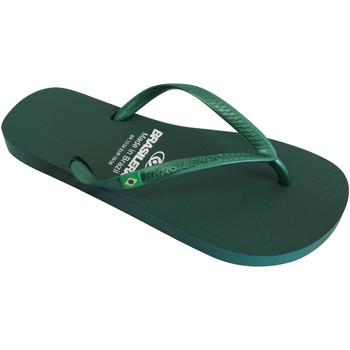 Zapatos Mujer Chanclas Brasileras Chanclas de playas ®, Classic Pearl W Green Military
