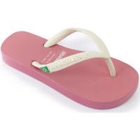 Zapatos Niña Chanclas Brasileras Chanclas de playa ,Clasica Combi Brasil NL KID Pink/White