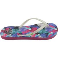 Zapatos Mujer Chanclas Brasileras Chanclas de playas ®,Printed 21  Guayabo White