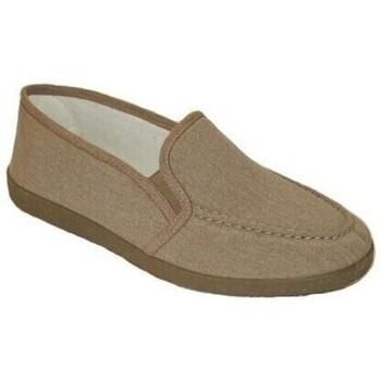 Zapatos Hombre Pantuflas Cbp - Conbuenpie Zapatillas XL Clásicas de Lona para hombre by CBP Beige