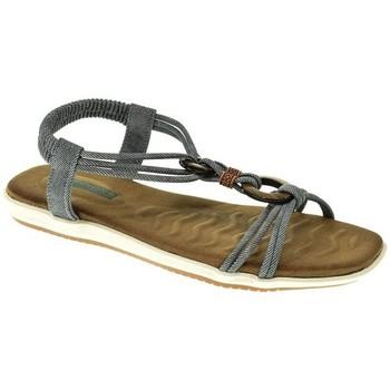 Zapatos Mujer Sandalias Amarpies SANDALIA PLANA  JEAN Azul