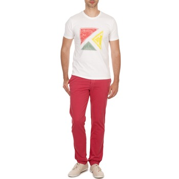 textil Hombre pantalones chinos Kulte PACO Rojo