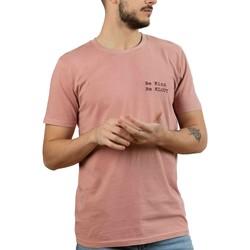 textil Hombre Camisetas manga corta Klout CAMISETA DYED ROSA Rosa