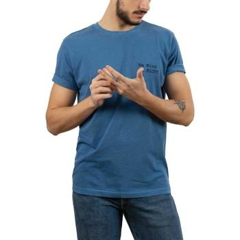 textil Hombre Camisetas manga corta Klout CAMISETA DYED AZUL Azul
