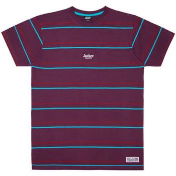 textil Hombre Camisetas manga corta Jacker Rtk stripes Violeta