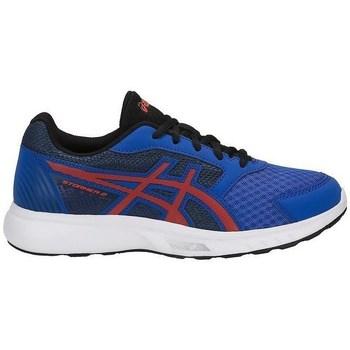 Zapatos Niños Fitness / Training Asics Stormer GS Rojos, Azul
