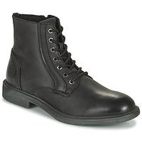 Zapatos Hombre Botas de caña baja Jack & Jones JFW KARL LEATHER BOOT Negro