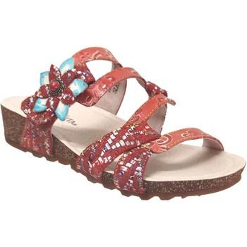 Zapatos Mujer Zuecos (Mules) Laura Vita Brcyano 51 Cuero rojo