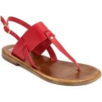 Zapatos Mujer Sandalias Bluetag  Rosso