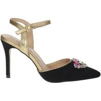 Zapatos Mujer Sandalias Menbur 22362 Negro/Oro