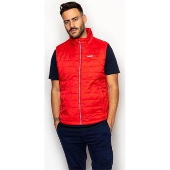 textil Hombre Abrigos La Promenade CL01S020 Rojo