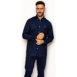 textil Hombre Camisas manga larga La Promenade CS03S001 azul