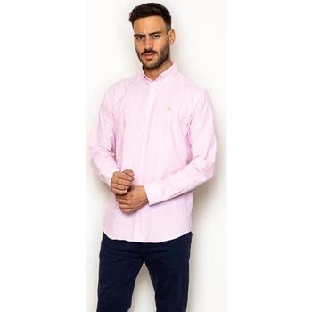 textil Hombre Camisas manga larga La Promenade CS03S071 rosa