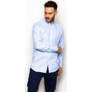 textil Hombre Camisas manga larga La Promenade CS03S117 Azul