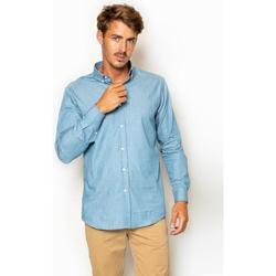 textil Hombre Camisas manga larga La Promenade CS13S054 Azul