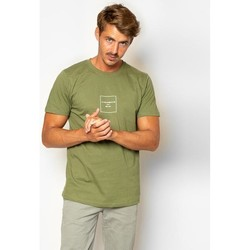 textil Hombre Camisetas manga corta La Promenade CT11S005 Verde