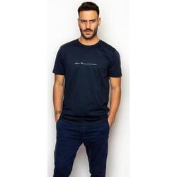 textil Hombre Camisetas manga corta La Promenade CT16S001 Azul
