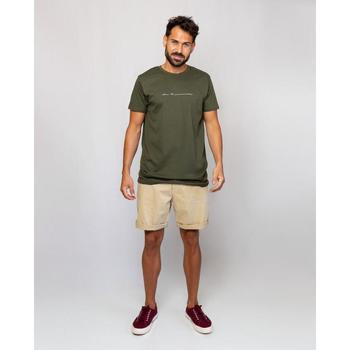 textil Hombre Camisetas manga corta La Promenade CT16S005 verde