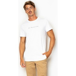textil Hombre Camisetas manga corta La Promenade CT16S014 Blancos