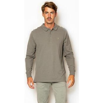 textil Hombre Polos manga larga La Promenade PL04S008 gris