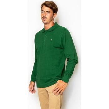 textil Hombre Camisetas manga larga La Promenade PL04S009 verde