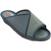 Zapatos Mujer Pantuflas Made In Spain 1940 Chanclas mujer abiertas con lunares azul