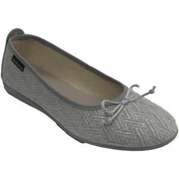 Zapatos Mujer Pantuflas Made In Spain 1940 Zapatillas manoletinas mujer hilos de pl gris