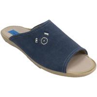 Zapatos Hombre Pantuflas Made In Spain 1940 Chanclas hombre azul