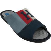 Zapatos Hombre Pantuflas Made In Spain 1940 Chanclas verano hombre estar por casa azul