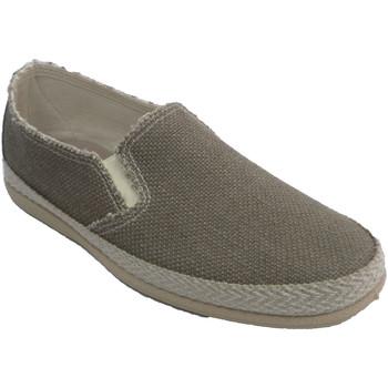 Zapatos Hombre Alpargatas Made In Spain 1940 Zapatillas hombre lona ribete simulando beige