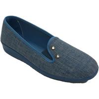 Zapatos Mujer Pantuflas Nevada Zapatilla mujer con dos remaches azul