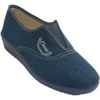 Zapatos Mujer Pantuflas Aguas Nuevas Zapatillas mujer cerradas goma empeine azul