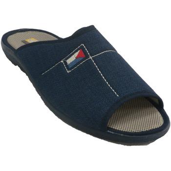 Zapatos Hombre Pantuflas Aguas Nuevas Zapatillas hombre abiertas punta talón azul