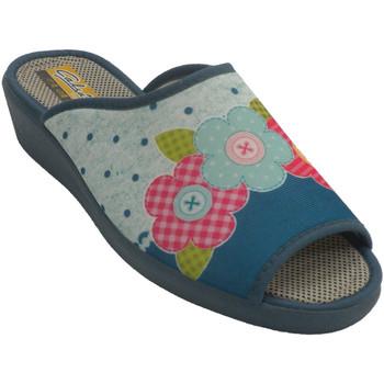 Zapatos Mujer Pantuflas Aguas Nuevas Zapatilla mujer abierta punta talón azul
