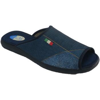 Zapatos Hombre Pantuflas Calzamur Zapatillas hombre abiertas punta y talón azul
