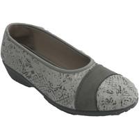 Zapatos Mujer Bailarinas-manoletinas Nevada Zapatilla mujer tipo salón gris