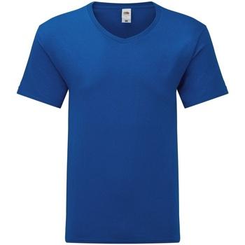 textil Hombre Camisetas manga corta Fruit Of The Loom 61442 Azul