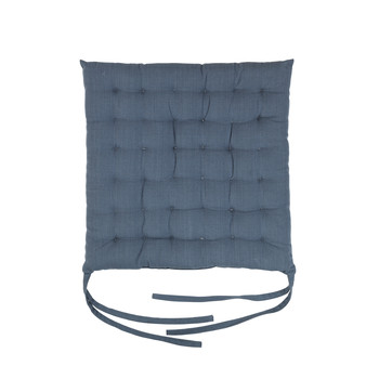Casa Cojín de silla Broste Copenhagen AVA Azul / Espejismo