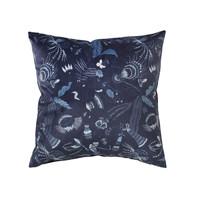 Casa Fundas de cojines Broste Copenhagen BELL FLOWER Azul / Noche