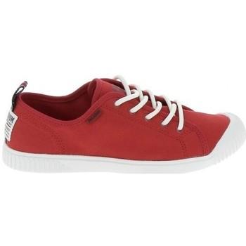 Zapatos Mujer Zapatillas bajas Palladium Manufacture Easy Lace Rouge Rojo