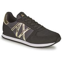 Zapatos Mujer Zapatillas bajas Armani Exchange HALOISE Negro / Oro