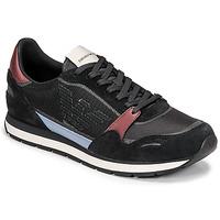 Zapatos Hombre Zapatillas bajas Emporio Armani ANIMA Negro / Burdeo
