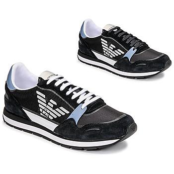 Zapatos Hombre Zapatillas bajas Emporio Armani ANIMA Negro / Azul