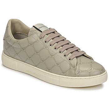 Zapatos Mujer Zapatillas bajas Emporio Armani DANSSE Beige / Blanco