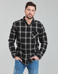 textil Hombre Camisas manga larga Rip Curl CHECKED OUT L/S FLANNEL Negro